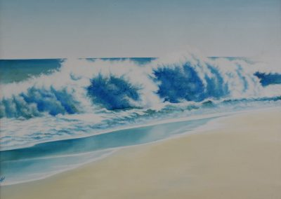 C04: Vibrant waves, 183 x 137 cm, oil on canvas
