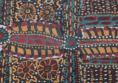 A04: Queenie Adamson, Ultukunda, 50 x 148 cm, Minymaku Arts Amata