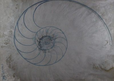 C06: Silver spiral, 183 x 137 cm, oil on canvas