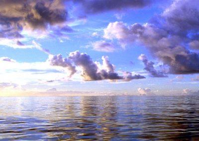 C13: Blue light clouded sea - photograph