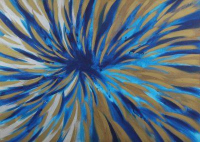 C02: Blue vortex, 183 x 137 cm, oil on canvas