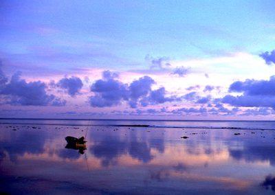 C14: Blue boat dawn - photograph