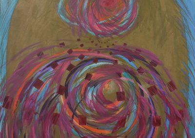 C05: Worlds alive, 137 x 183 cm, acrylic on canvas