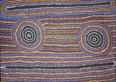 A06: Paddy Stewart, Japaltjarri Yanjilypiri 2002, 106 x 76 cm, Warlukurlangu Artists, Yuendumu