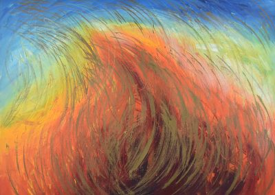 C08: The beauty of fire and sky, 183 x 137 cm, acrylic on canvas