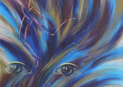 C09: Dancing on my mind, 137 x 183 cm, acrylic on canvas