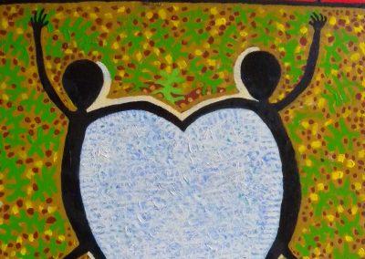 Warmun Love Spirits 2002, 76 cm x 51 cm, Acrylic on Belgium Linen