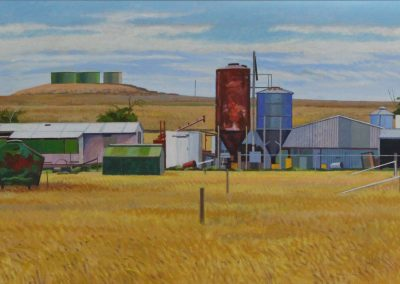 C12: The farm near Ouyen Victoria 2012, 137.5 x 61.5 cm, oil on linen